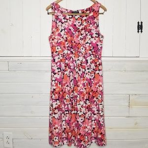 Lands' End Dress Floral Print Sleeveless